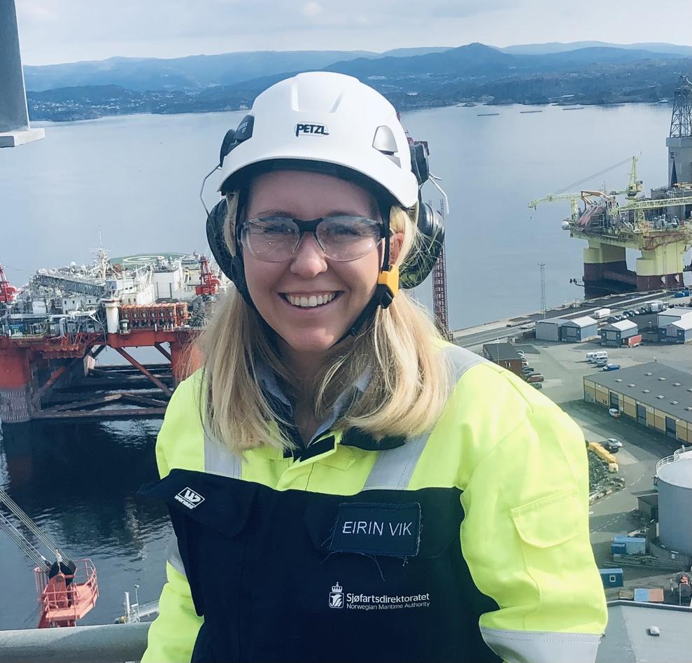 Eirin Vik på jobb som overingeniør