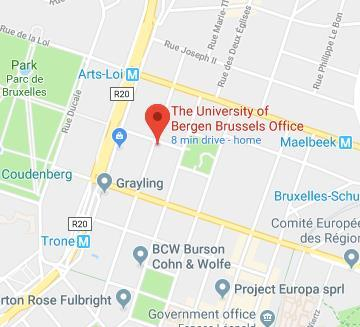 Brussels office location map