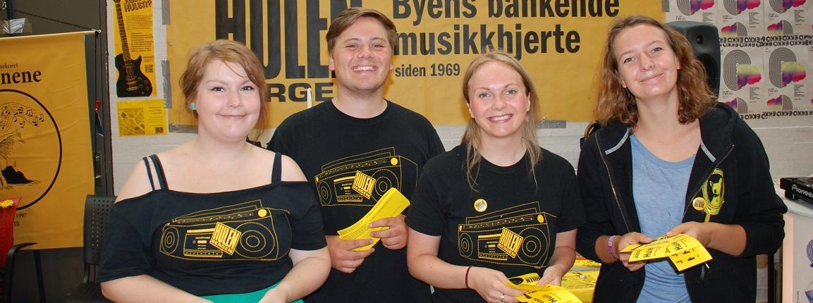 Representatives from the student venue Hulen