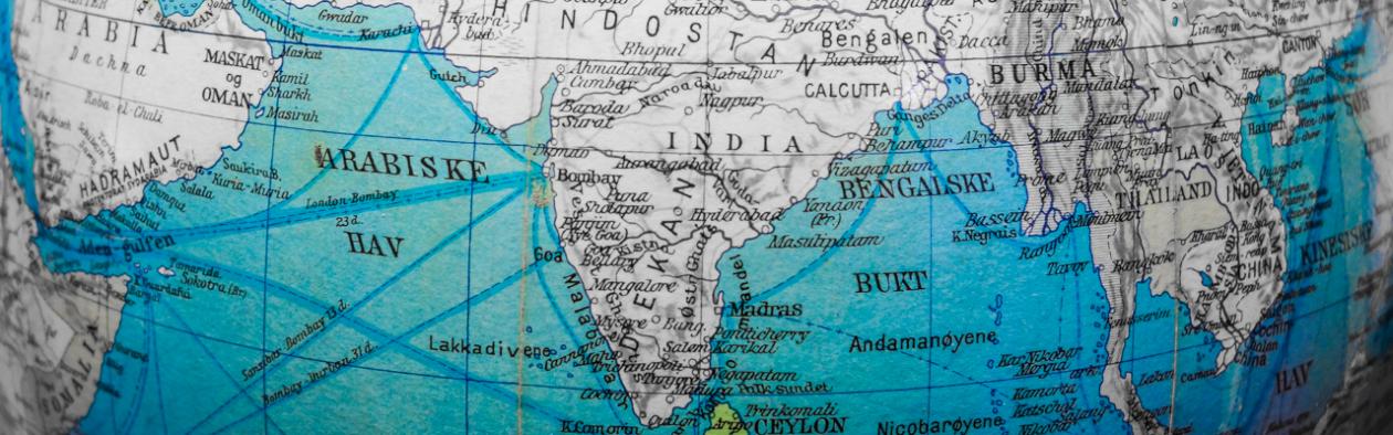 Gamalt kart over India