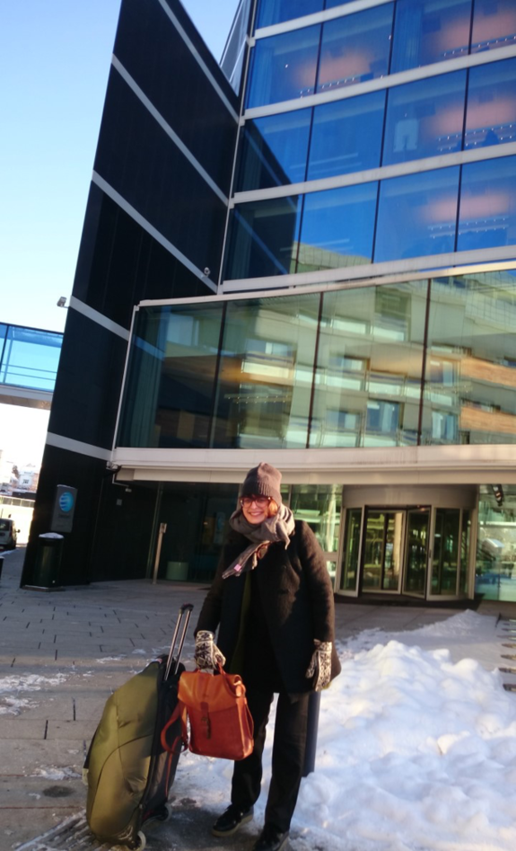 Outside Statkraft building after first meeting in January 2016.