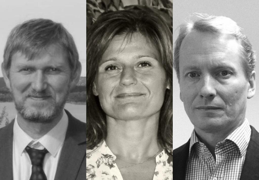 Øyvind Frette, Pinar Heggernes og Sigmund Selberg (frå venstre).