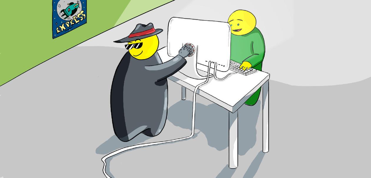 Illustrasjon - internettsikkerhet.