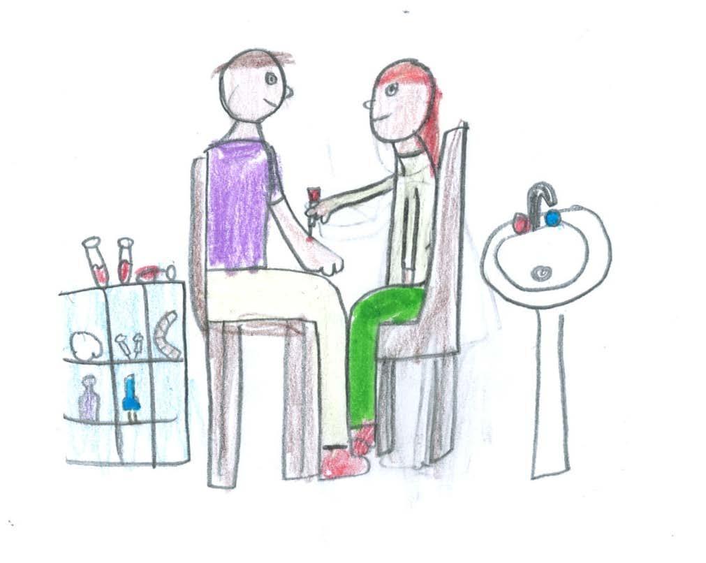 Bildet illustrerer blodprøvetaking