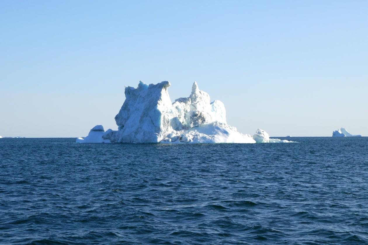Ice berg outside Greenland, illutration