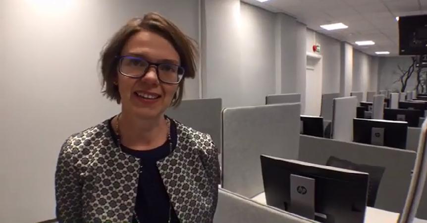 Professor Elisabeth Ivarsflaten at the opening of the Norwegian Citizen Lab on 30 November 2016.