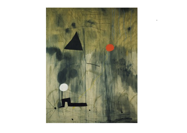 """The painting """"The birth of the world"""" by J. Miro (abstract)"""