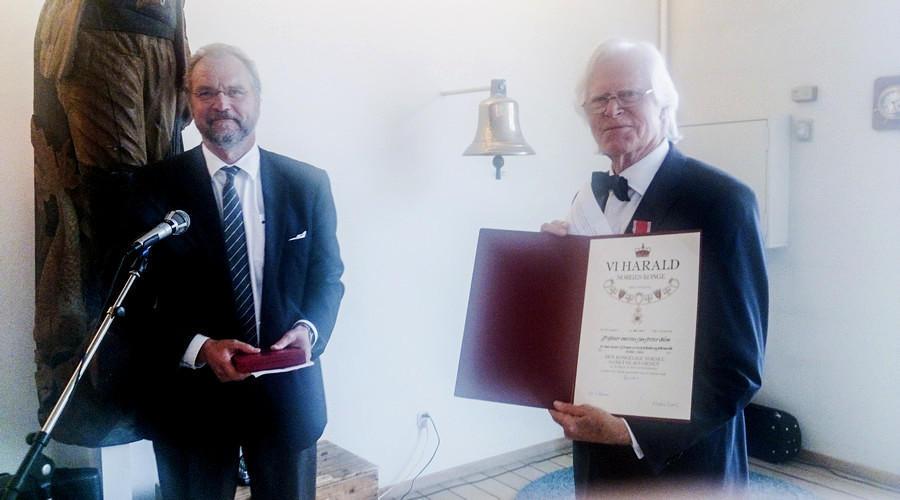 Jan-Petter Blom mottar Den Kongelige Norske St. Olavs Orden