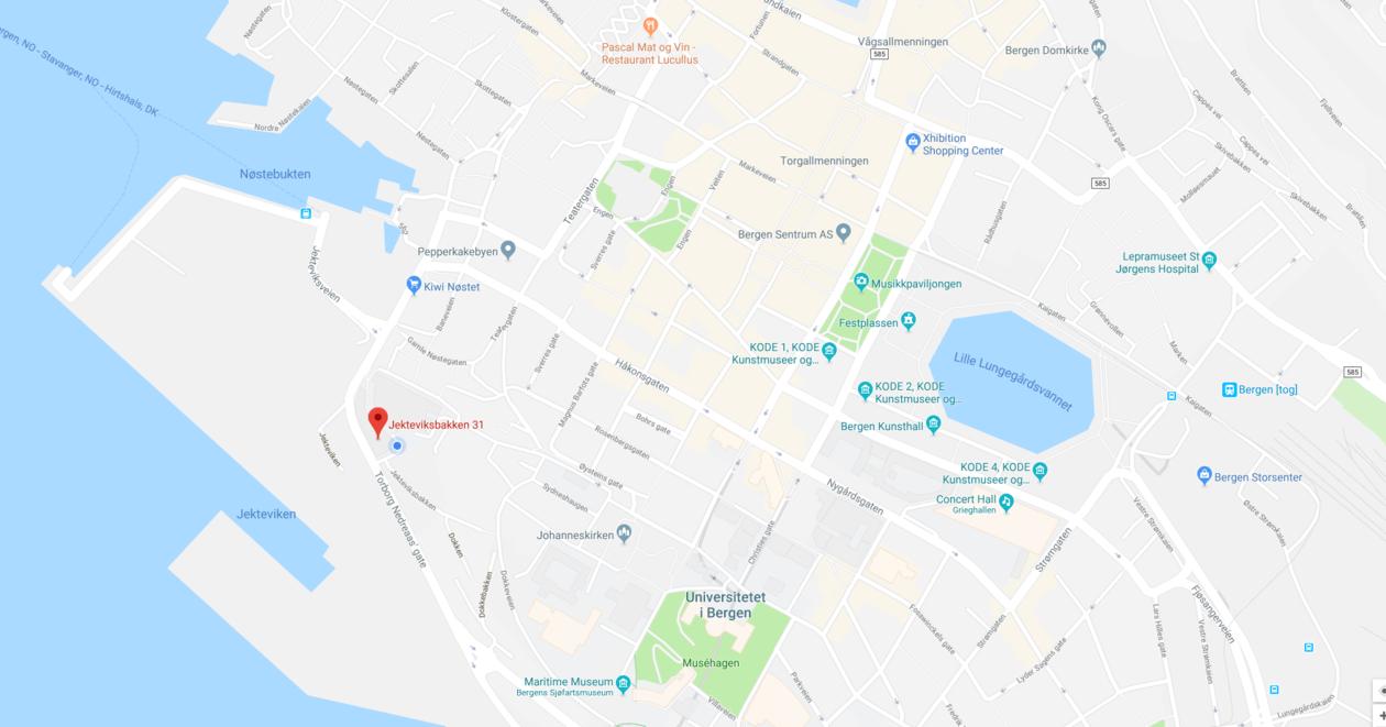 Map showing Jekteviksbakken 31