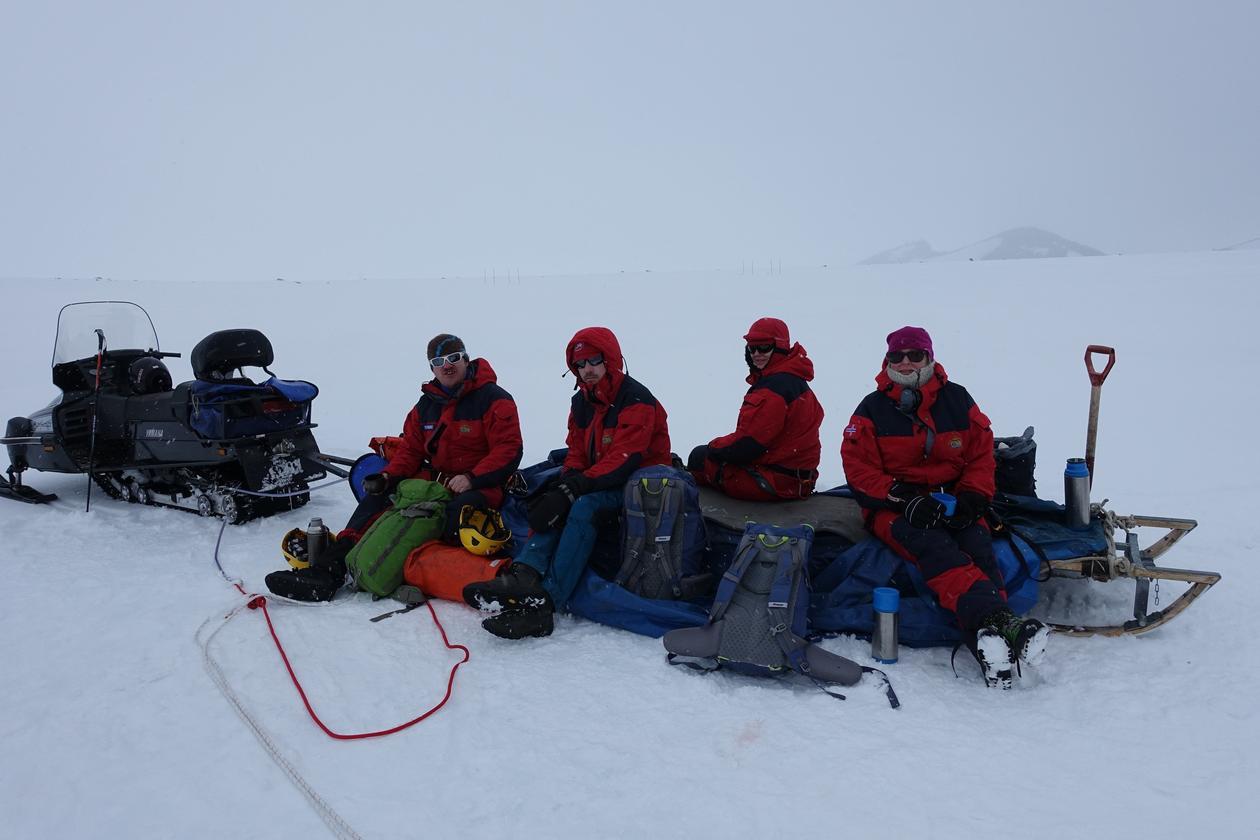 Snø i Antarktis