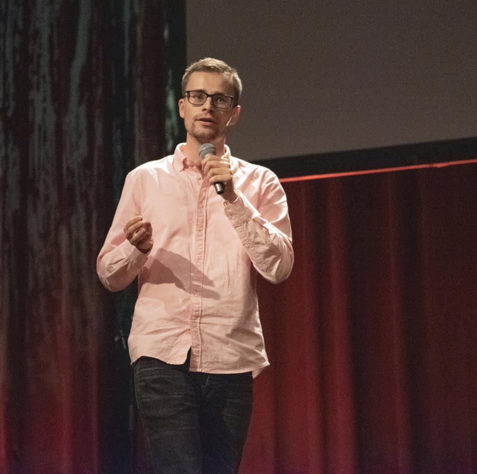 John Magnus Dahl under presentasjon FGP2019
