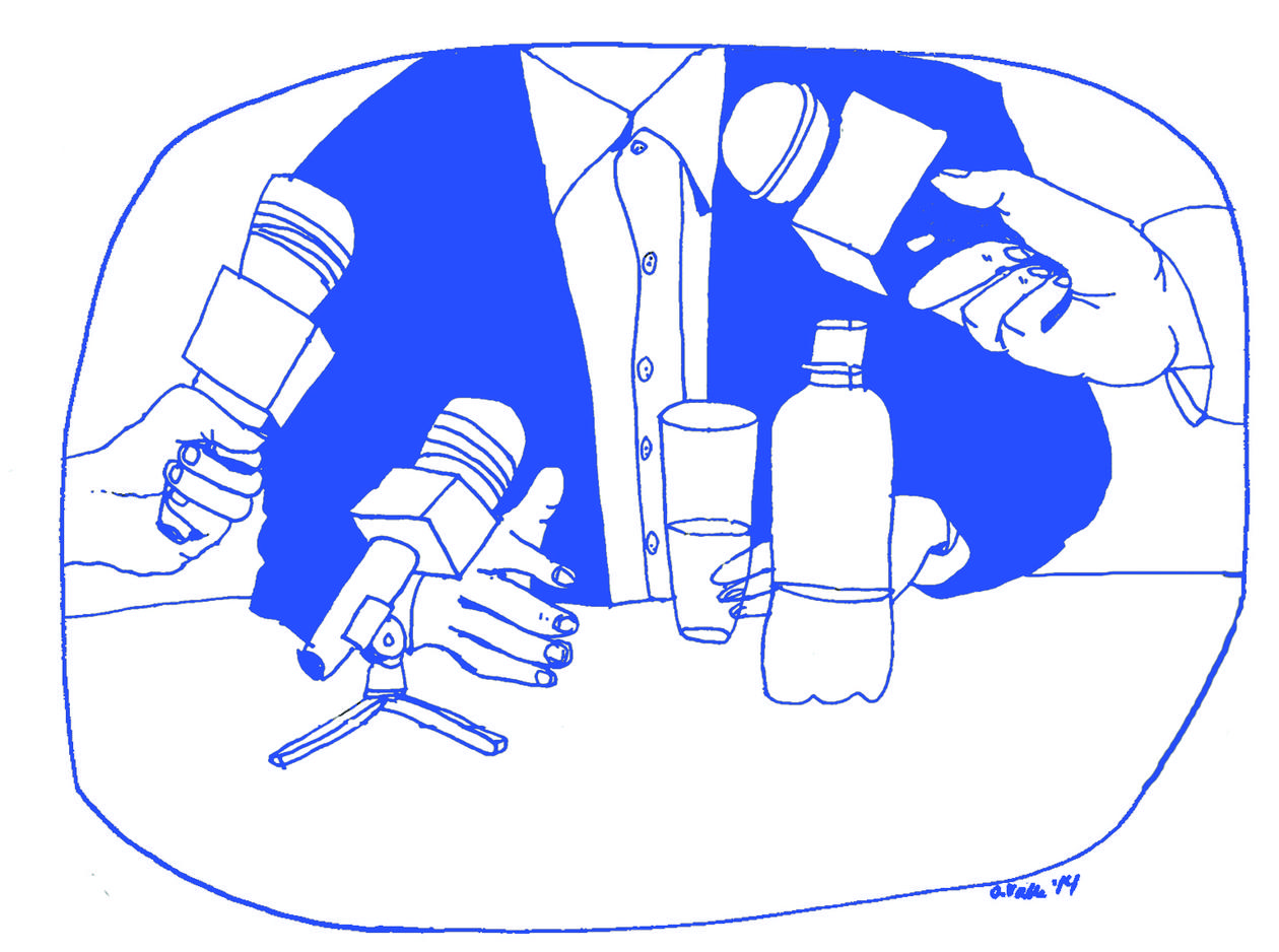 Illustration by artist Oda Valle for an article on Media City Bergen for the UiB Magazine 2014.