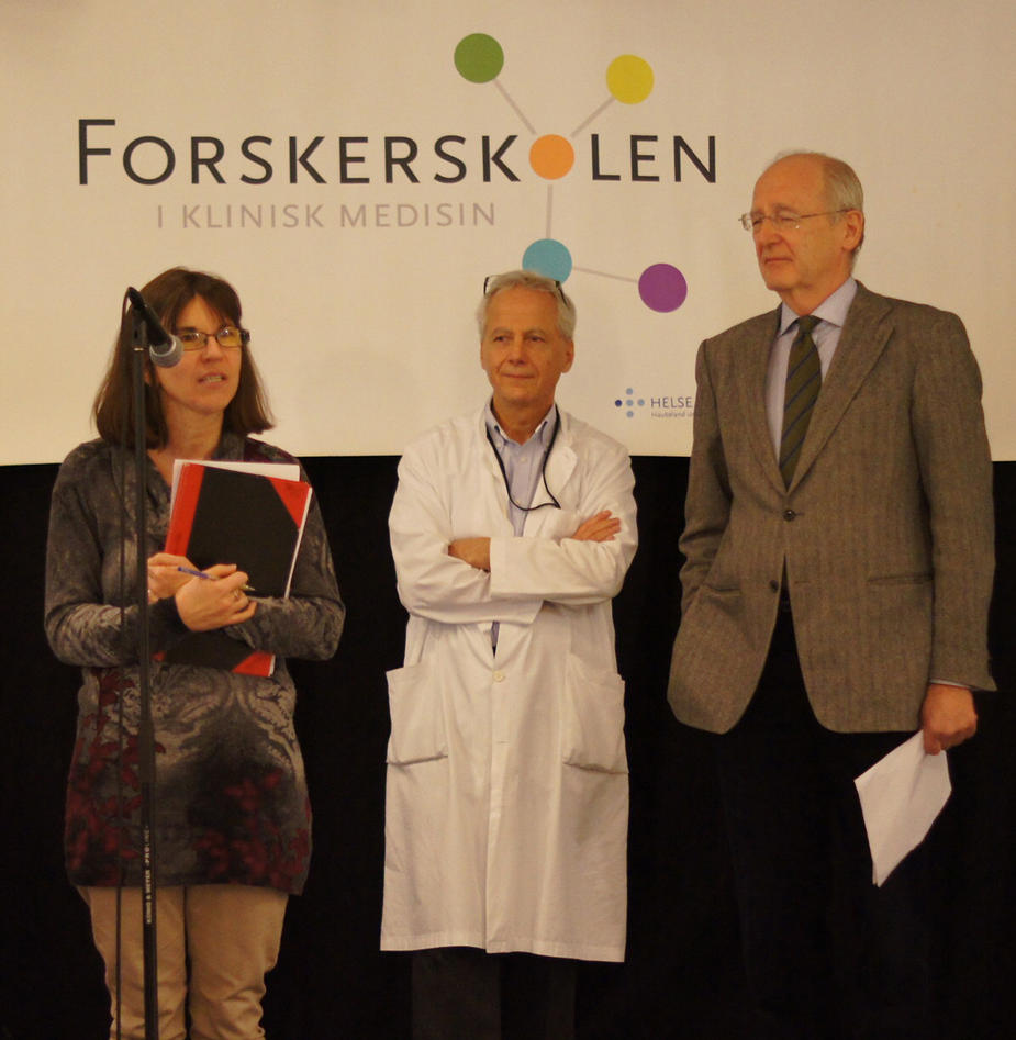 The three judges of Research Presentation 2014.