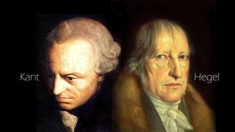 Kant and Hegel (picture of their heads)