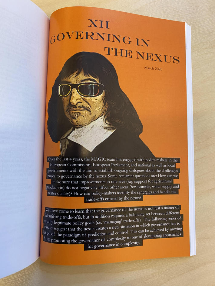 Photo of a page in a book - headline: Governing in the Nexus