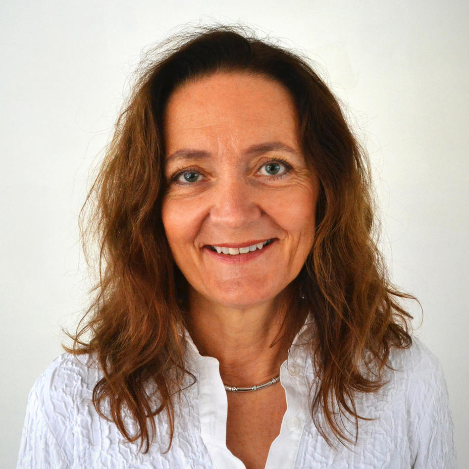 Face of middle aged woman smiling