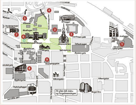 Kart UiB-campus FP-dag 2018