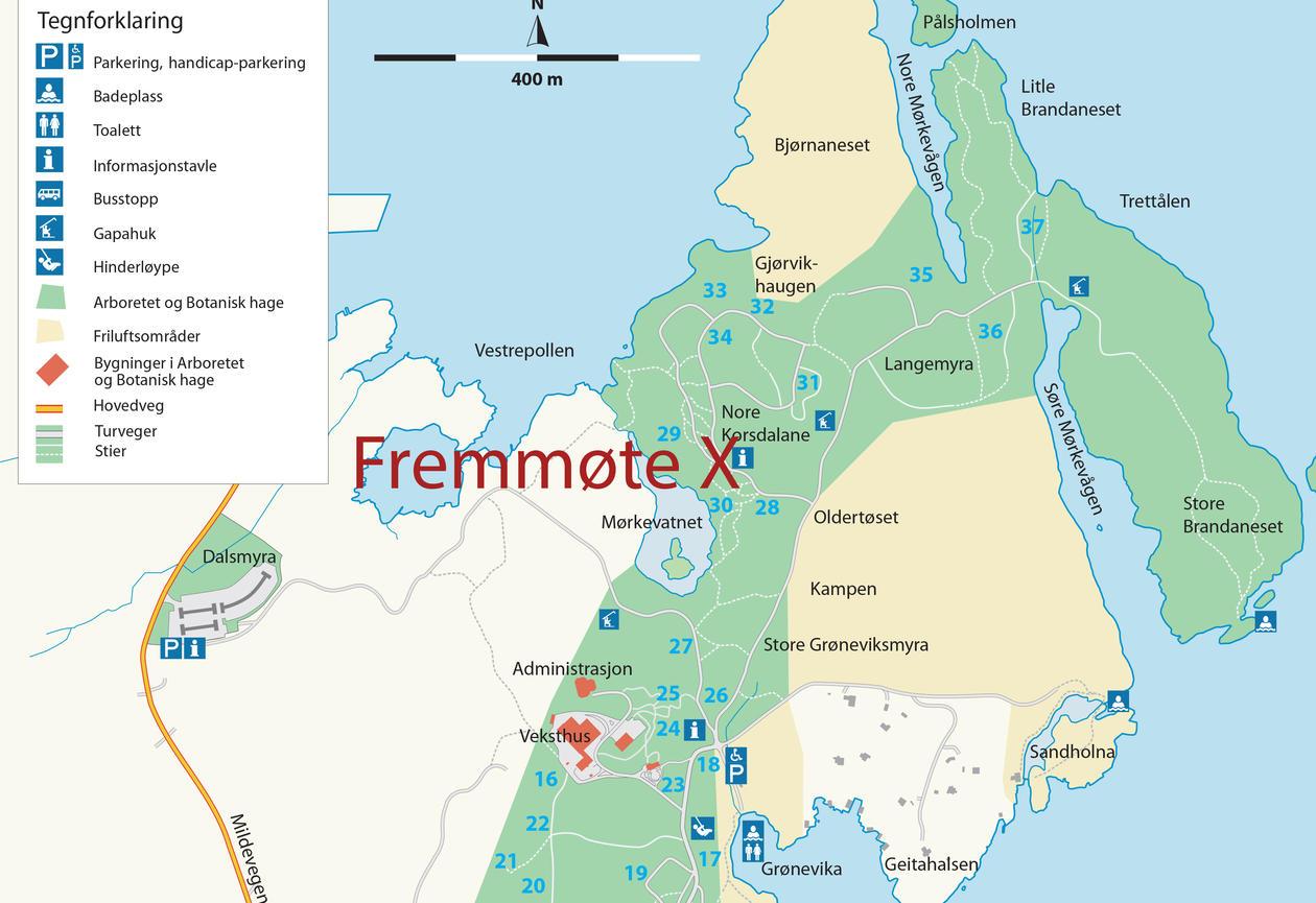 kart over fremmøte
