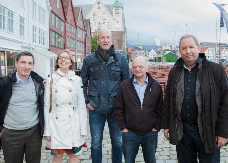 Group photo at Bryggen in Bergen.