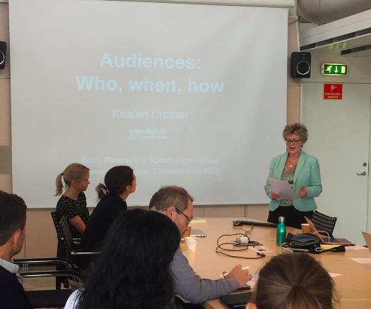 "Kirsten Drotner foredrag ""Janice Radway i en skandinavisk kontekst"""