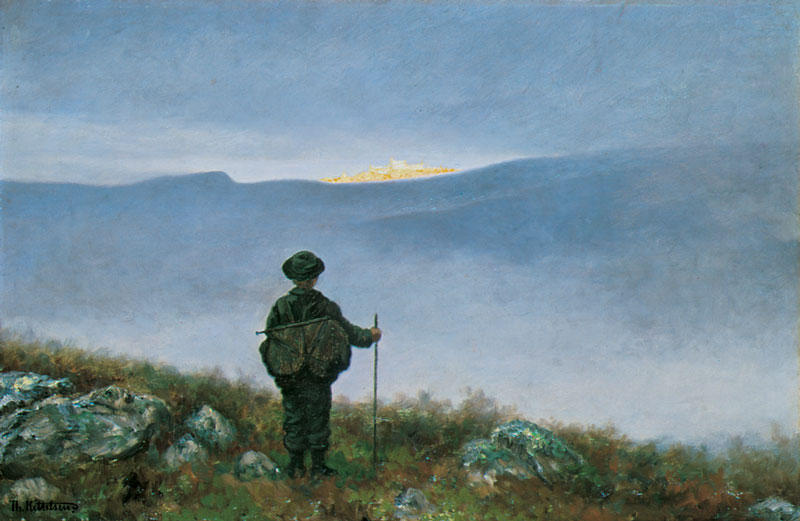 Painting of Soria Moria by Kittelsen
