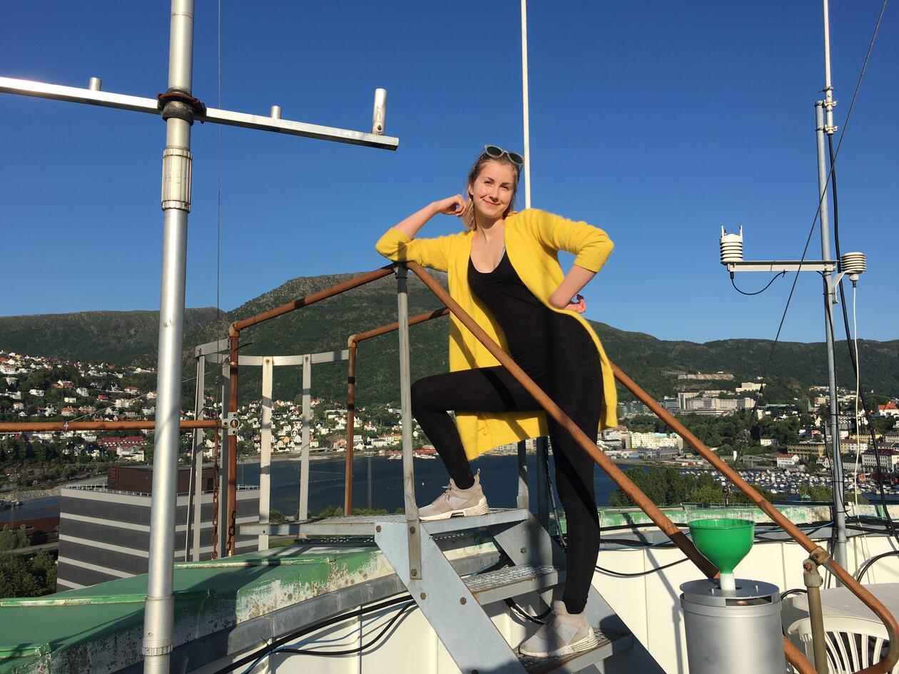 Sigrid studerer realfag ved UiB