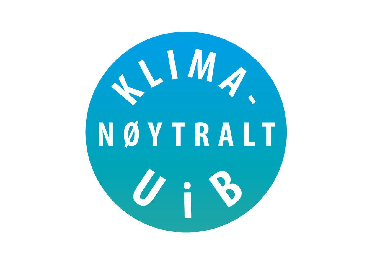 Logo for Klimanøytralt UiB