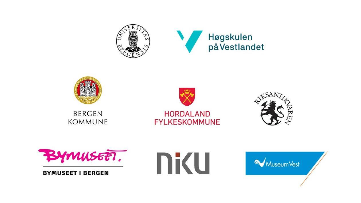Logoar for samarbeidspartnarane i mellomalderklynga