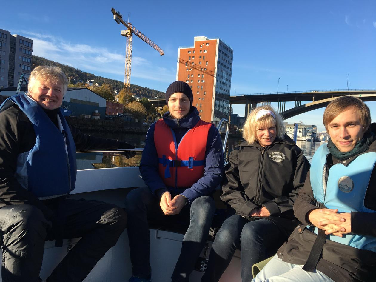 John Georg, Henrik, Signe and Christian at Puddelfjorden