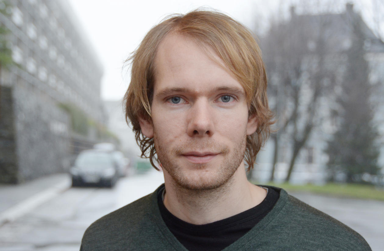 Portrait of Researcher Kristian Smeland Ytre-Hauge, Department of Physics and Technology, University of Bergen.