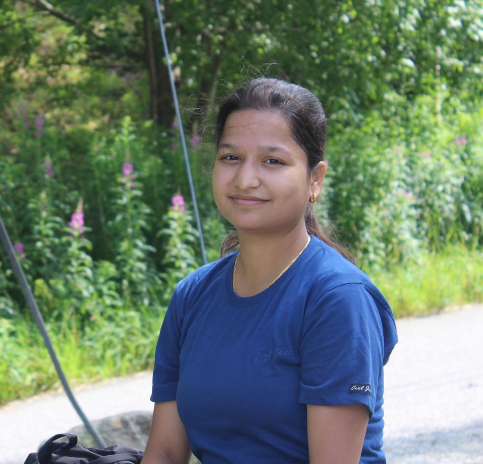 Master student Kumari Kamala Chand.