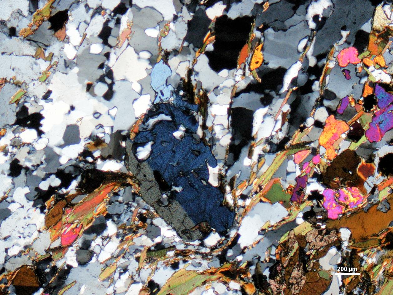 Sample of kyanite-gneiss