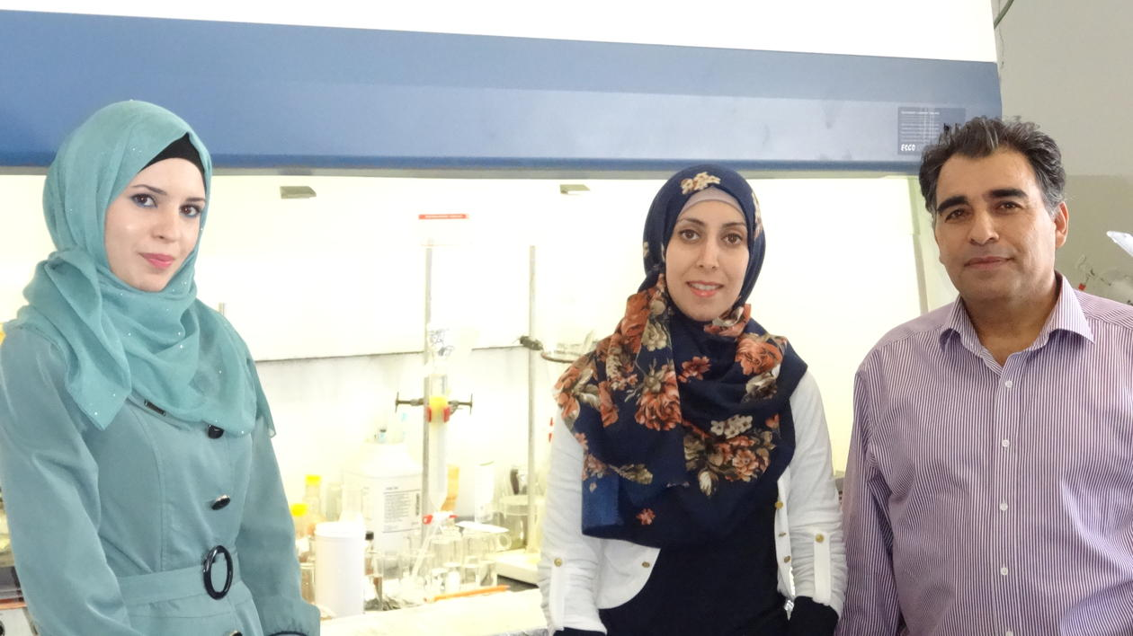 Three members of the research laboratory