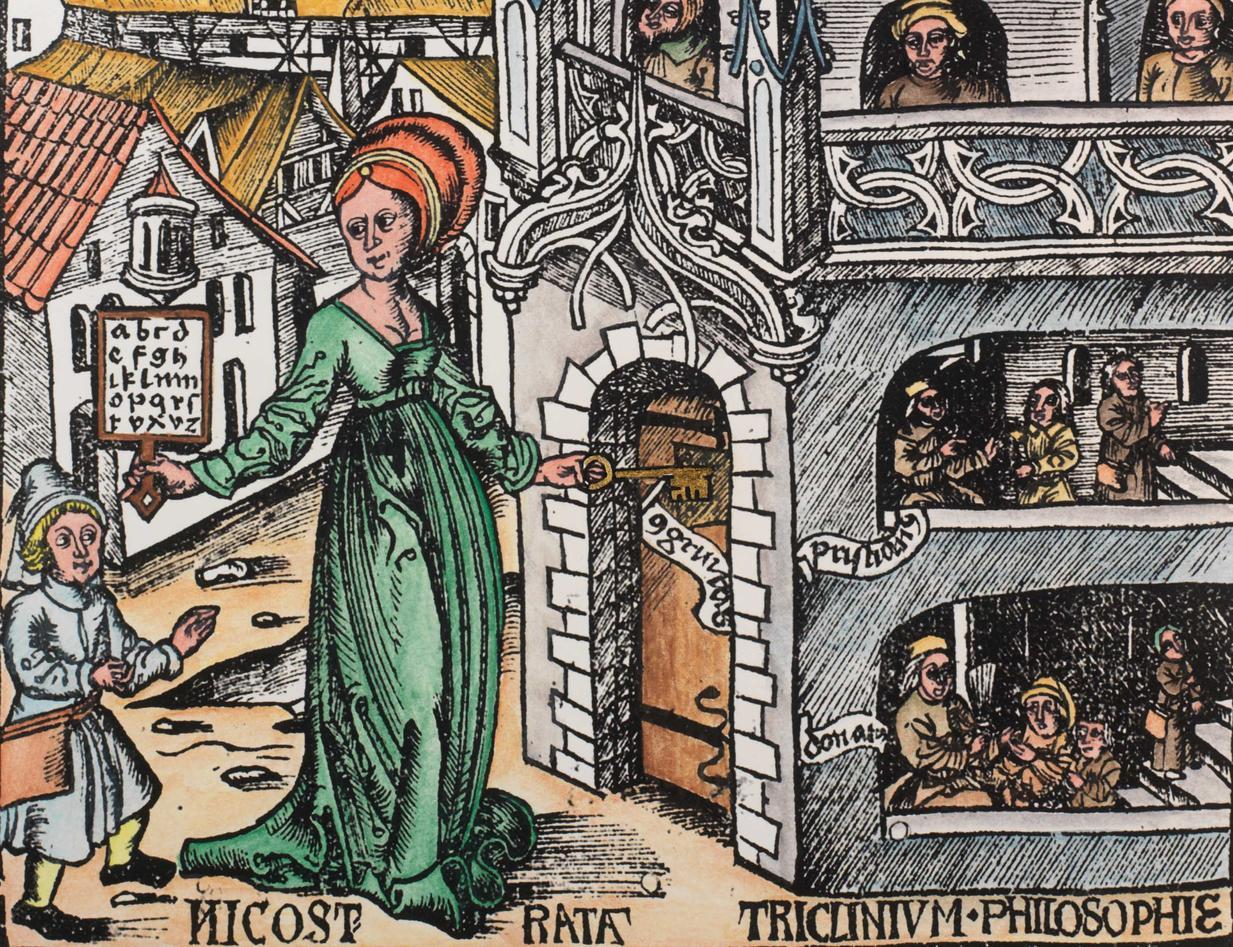 Lærdomstårnet Typus Grammaticae frå Margarita philosophia (1503)