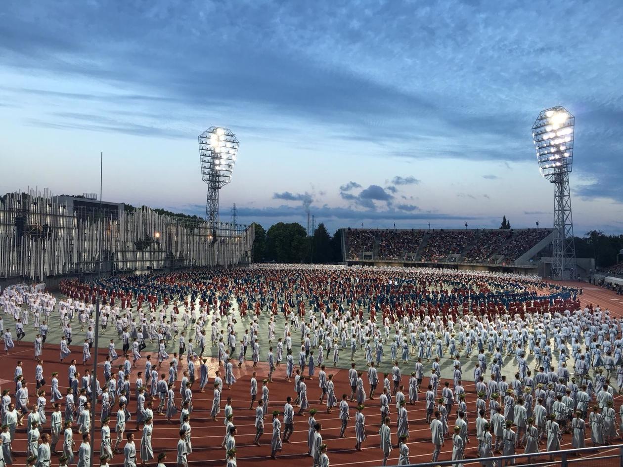 Dansefestival i Riga, markering av Latvias 100 års jubileum