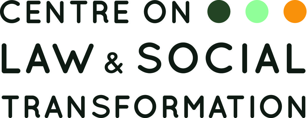 The logo of the Centre on Law & Social Transformation in Bergen, which opened on 22 August 2014. The centre is a collaboration between Chr. Michelsen Institute and the University of Bergen.