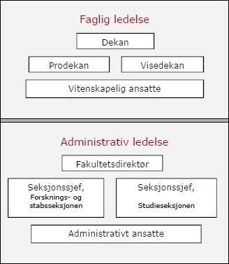 Organisasjonskart Det juridiske fakultet