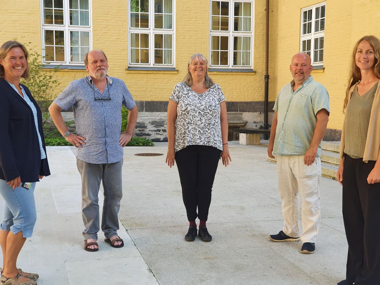 Leiargruppa ved Institutt for framandspråk, UiB.