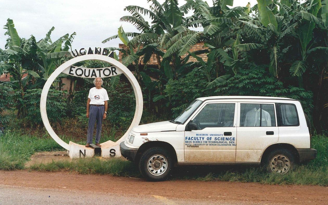 Endre Lillethun at the Equator