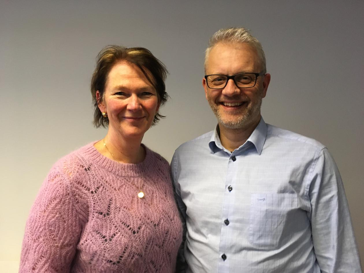 Scientific Director Lise Øvreås from Ocean Sustainability Bergen and Marine Director Nils Gunnar Kvamstø at the University of Bergen, photographed in January 2020.
