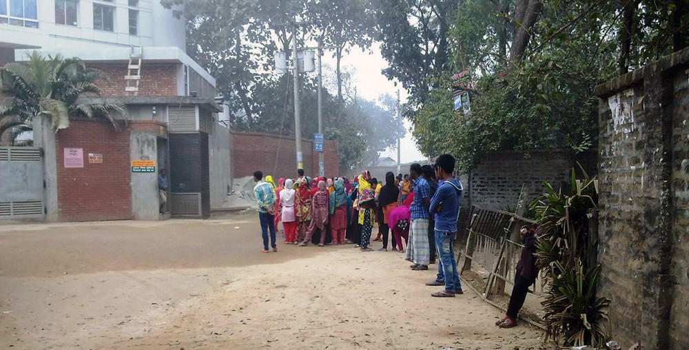 Garment industry workers in Bangladesh.
