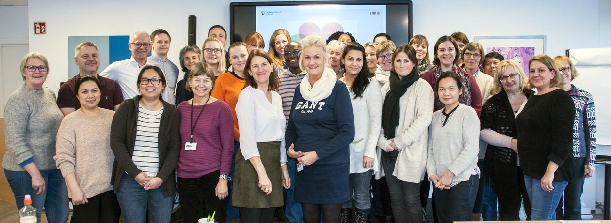 Gruppebilde fra deltakere fra seminaret i Bærum