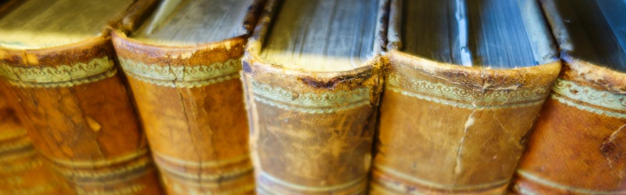 Bøker i hylle