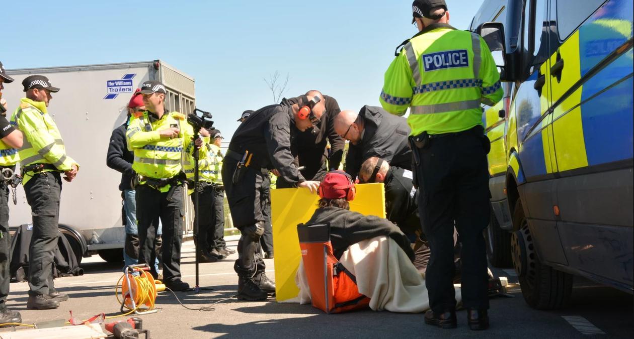 Protestor removal team