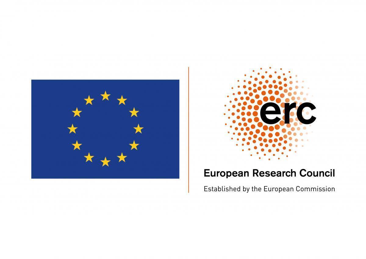 ERC logo og EU-flagg