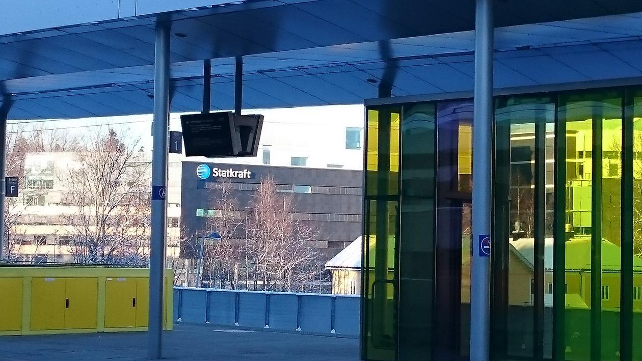Statkraft head office seen from Lysaker train station.