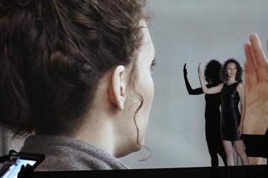Image of Natalia Fedora performing Machine Libertine.
