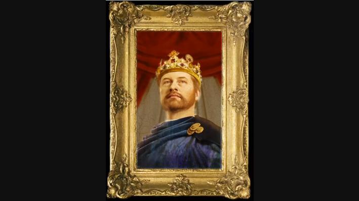 Bilde av et portrett av Magnus Lagabøte