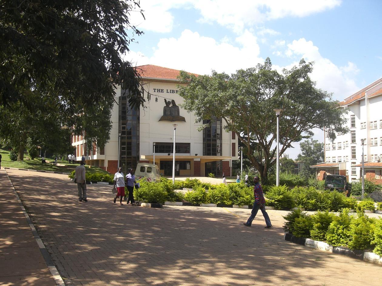 Campus på Makerere University, Uganda