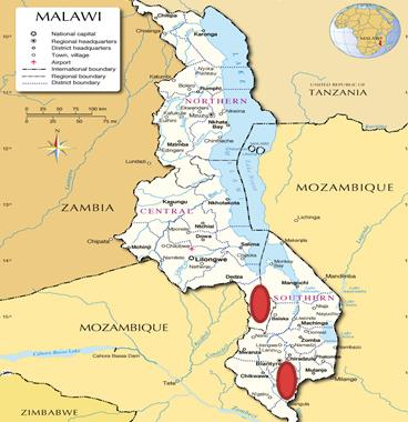 Malawi study areas